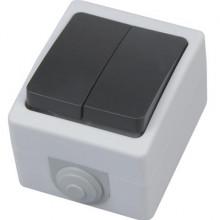 ATOM выключатель накладной двухклавишный