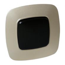 ELA выключатель 1-клавишный золото + черный