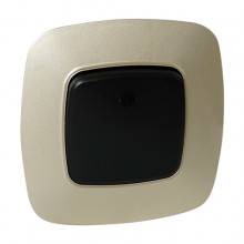 ELA выключатель 1-клавишный с подсветкой золото + черный