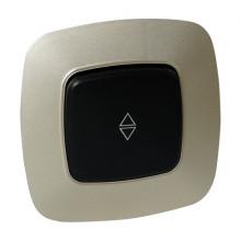 ELA выключатель проходной 1-клавишный золото + черный