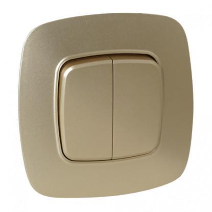 ELA выключатель 2-клавишный золото