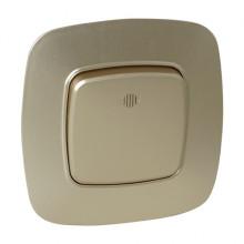 ELA выключатель 1-клавишный с подсветкой золото