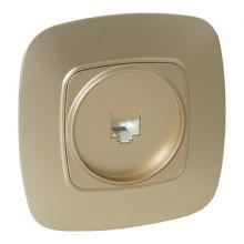 ELA розетка телефонная цифровая золото
