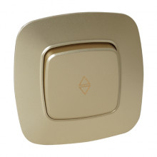 ELA выключатель проходной 1-клавишный золото