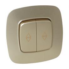 ELA выключатель проходной 2-клавишный золото