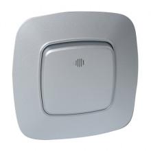 ELA выключатель 1-клавишный с подсветкой серебро