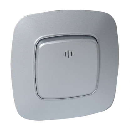 ELA выключатель 2-клавишный с подсветкой серебро