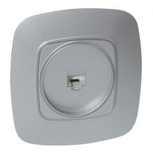 ELA розетка телефонная цифровая серебро