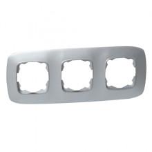 ELA рамка 3-ная серебро