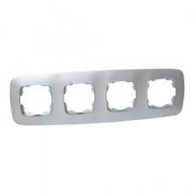 ELA рамка 4-ная серебро