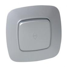 ELA выключатель проходной 1-клавишный серебро