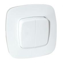 ELA выключатель 2-клавишный белый