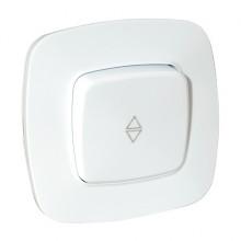 ELA выключатель проходной 1-клавишный белый