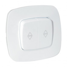 ELA выключатель проходной 2-клавишный белый