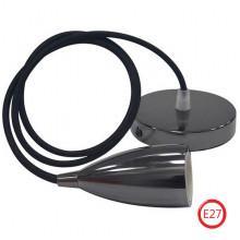 EDISON светильник подвесной перламутровый черный