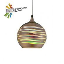LASER светильник подвесной 3D круглый
