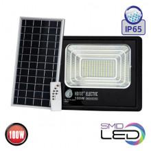TIGER-100 прожектор светодиодный с солнечной панелью