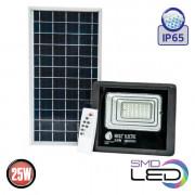 TIGER-25 прожектор светодиодный с солнечной панелью