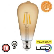 Филаментная лампа 6W E27 RUSTIC VINTAGE-6 (001 029 0006)