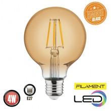 Филаментная лампа 6W E27 RUSTIC GLOBE-4 (001 030 0004)