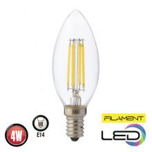 Филаментная лампа 4W E14 FILAMENT CANDLE-4 (001 013 0004)