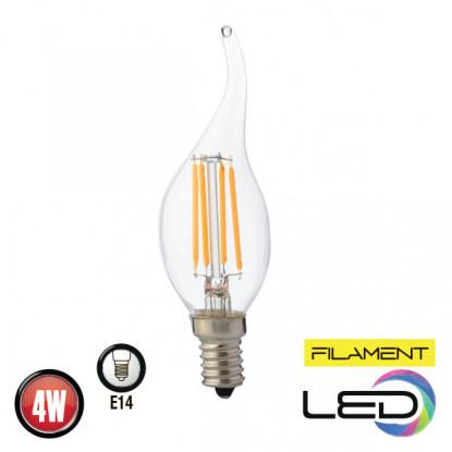 Филаментная лампа 4W E14 FILAMENT FLAME-4 (001 014 0004)