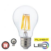 Филаментная лампа 8W E27 FILAMENT GLOBE-8 (001 015 0008)