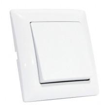 TINA выключатель 1-клавишный белый