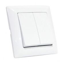 TINA выключатель 2-клавишный белый