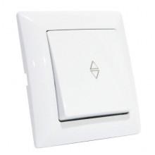 TINA выключатель проходной 1-клавишный белый