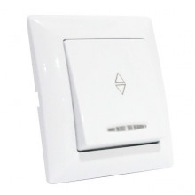TINA выключатель проходной 1-клавишный с подсветкой белый