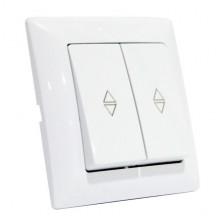 TINA выключатель проходной 2-клавишный белый